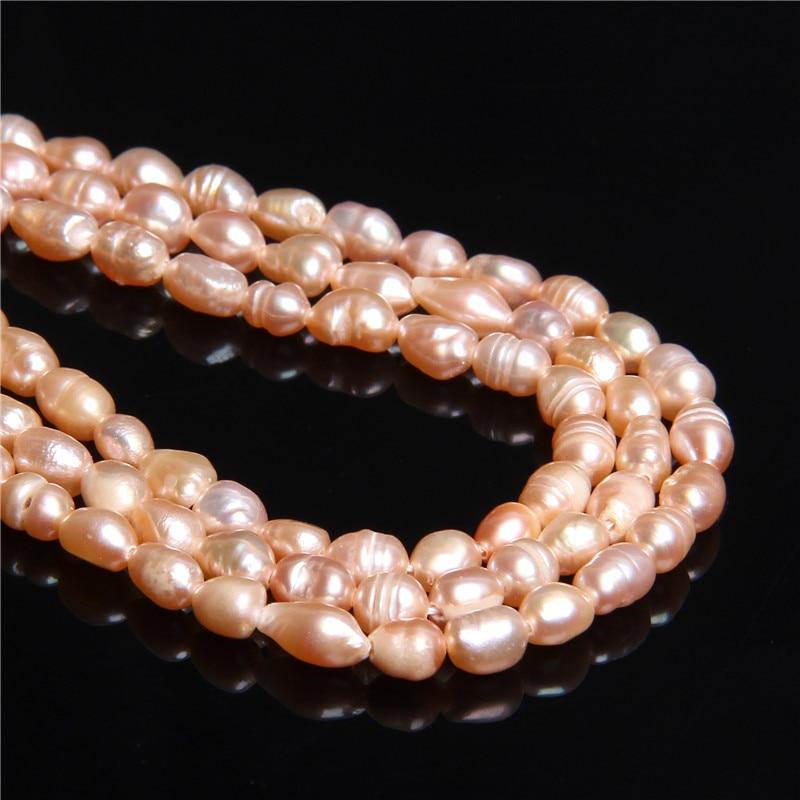 4-4,5mm de forma libre champán Real barroco Natural perlas para las mujeres la fabricación de la joyería diy collar pendiente de pulsera