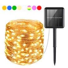 200/300/400 LED lumière solaire chaîne extérieure étanche fée lumières jardin guirlande noël fête solaire lampe décoration