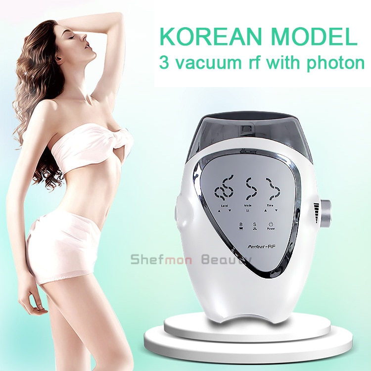 Best Result Vacuun RF Skin Tighten Machine With Photon Face Lift Wrinkle Removal Body Slimming For Beauty Salon