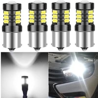 4x 1156 p21w ba15s canbus led auto tail brake bulb car daytime running lights t15 w16w reverse light for tiguan cruze touran