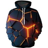 2021 new colorful flame hoodie 3d fluorescence sweatshirt menwomen autumn and winter coat clothing funny jacket black hoodies