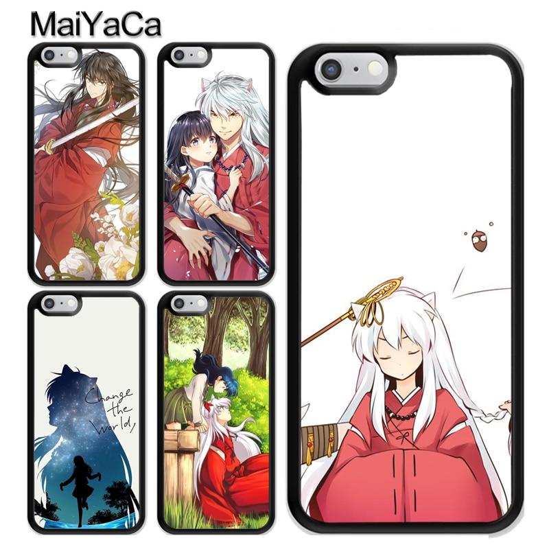 Anime Inuyasha Coque accesorios para iPhone 11 Pro MAX X XR XS MAX SE 2020 6 7 8 Plus 5s cubierta Coque
