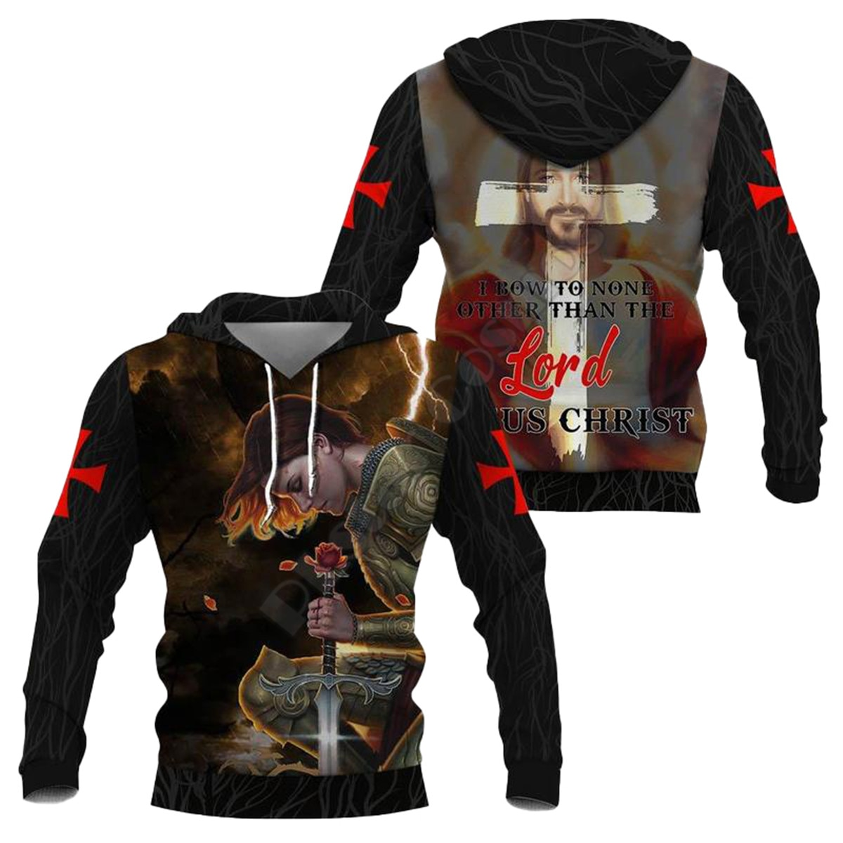 Knight Templar Armor 3D All Over Printed Hoodies Fashion Pullover Men For Women Sweatshirts Sweater Cosplay Costumes 09