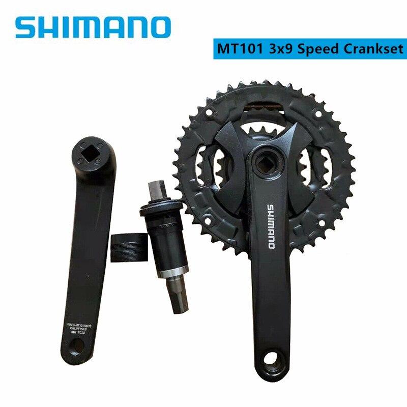 Shimano-platos y bielas de velocidad para bicicleta de montaña, accesorios para bicicleta,...