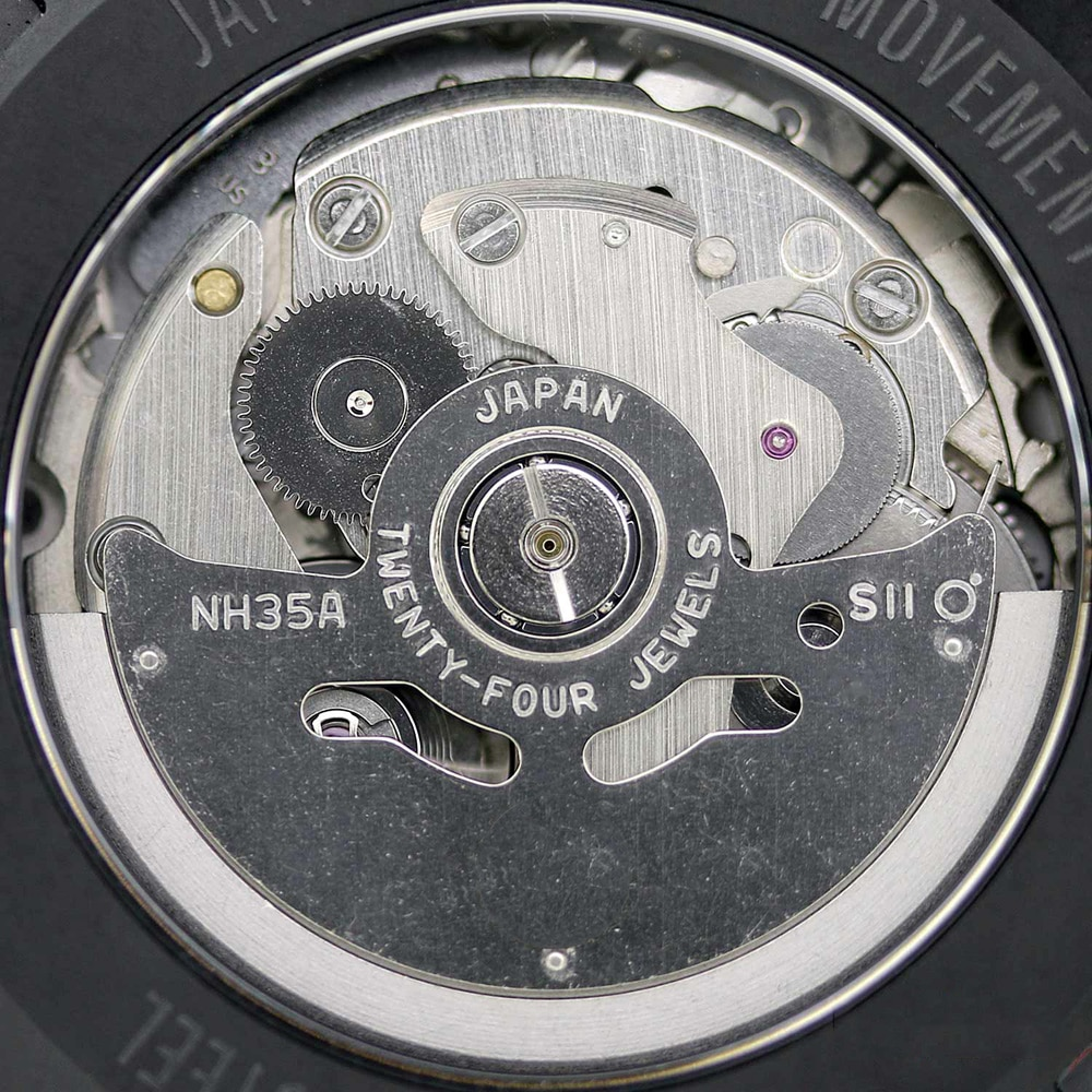 JAPAN NH35 NH35A Automatic Watch Movements Brand New Black Date Window Mechanical Movement Part Accessory enlarge