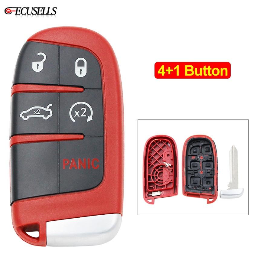 4 + 1/5 кнопка новая Замена дистанционного смарт-ключа чехол для Chrysler 300 Для Dodge Challenger, Charger Dart Durango для Jeep Red