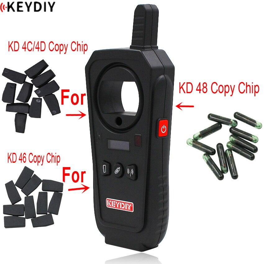 Chip de chave remoto x kd, chip para chave de carro de cópia 4c/4d/46/48 com 10 peças KD-X2 programador chave ou KD-X2 máquina principal conjunto