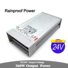 Outdoor Power Supply DC12V DC24V DC36V DC48V 300W 350W 360W 400W Lighting Transformers AC-DC Rainproof SMPS For LED Strip light