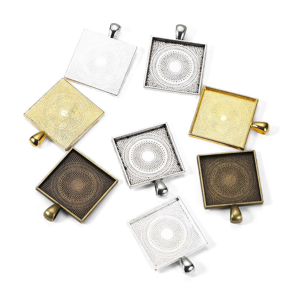 Nuevo accesorio de moda para interiores, 5 uds., 25mm, 7 colores plateados, Base de cristal ajustable, cierre de cadena