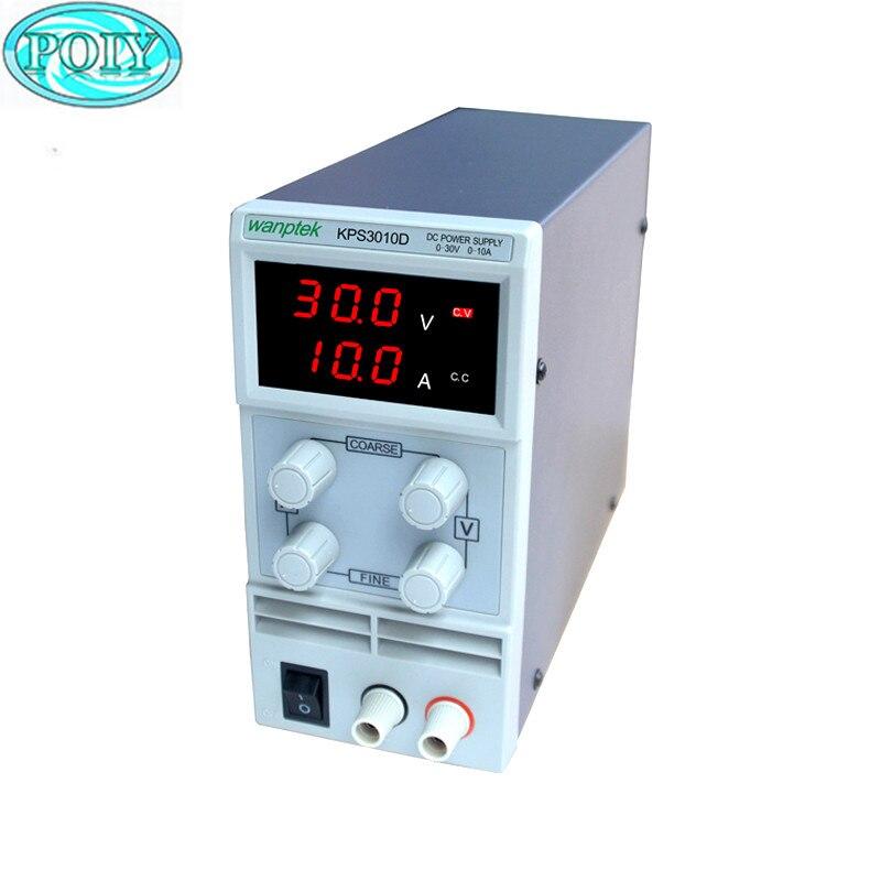 Interruptor de pantalla de doble LED ajustable de alta precisión DC fuente de alimentación KPS3010D 30V10A 110V-230V 0,1 V/0.01A