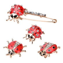 Version Of The Fashionable Seven-star Ladybird Brooch Lady Beautiful And Lovely Insect Jewelry Jeans