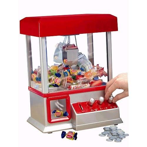 [Divertido] el juego electrónico de garra agarre de juguete win candy gum y pequeña consola de juegos luz y música poner en las monedas candy arcade regalo
