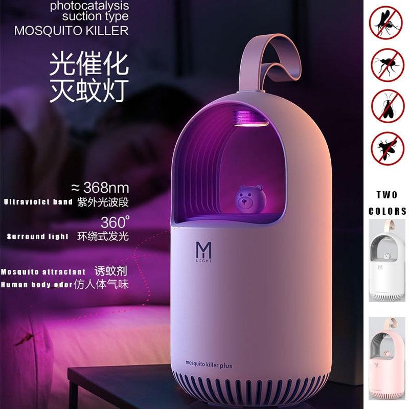 M108 MICRO USB Plug Moe Bear Electric Photocatalytic Anti Mosquito Killer Lamp