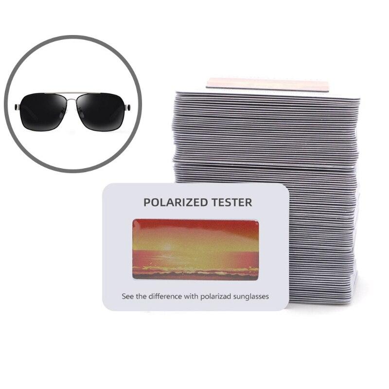 Sunglasses Polarised Test Card for Mens Ladies  Kids T5UC