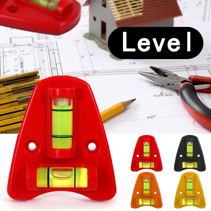 Mini Spirit Level Measurement Instrument T-type Two Ways Spirit Level Bubble  Level 2 Way Each Level Has Two Screw Holes
