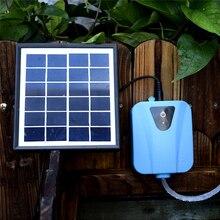 تعمل بالطاقة الشمسية الأكسجين مضخة أكسجين المياه بركة مهوية حوض السمك Airpump تيار مستمر 5 فولت شحن الأكسجين مضخة أكسجين المياه بركة جديد
