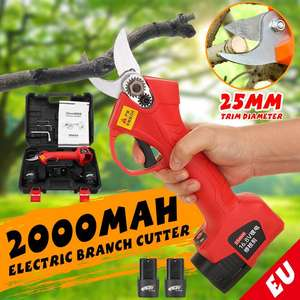 16.8V Cordless Electric Pruning Scissors 25mm Lithium-ion Pruning Shear Fruit Tree Bonsai Pruning Electric Tree Branches Cutter