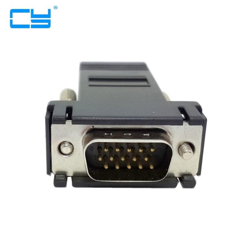 Extensor VGA para hombre, 10 Uds., LAN CAT5 CAT6 RJ45, Adaptador de...