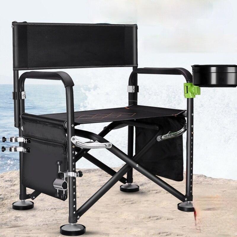 Fishing Chair Multifunctional Fishing Chair Foldable Table Fishing Chair Stool with Long Legs Wild Fishing Stool