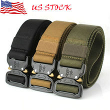 New Men's Outdoor Tactical Belts Nylon Military Waist Belt with Metal Buckle Adjustable Heavy Duty Training Waist Belt