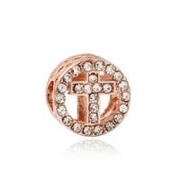 rose cross beads for jewelry making diy fit original pan clear cz crucifix charms bracelet women christian prayer amulet bangles