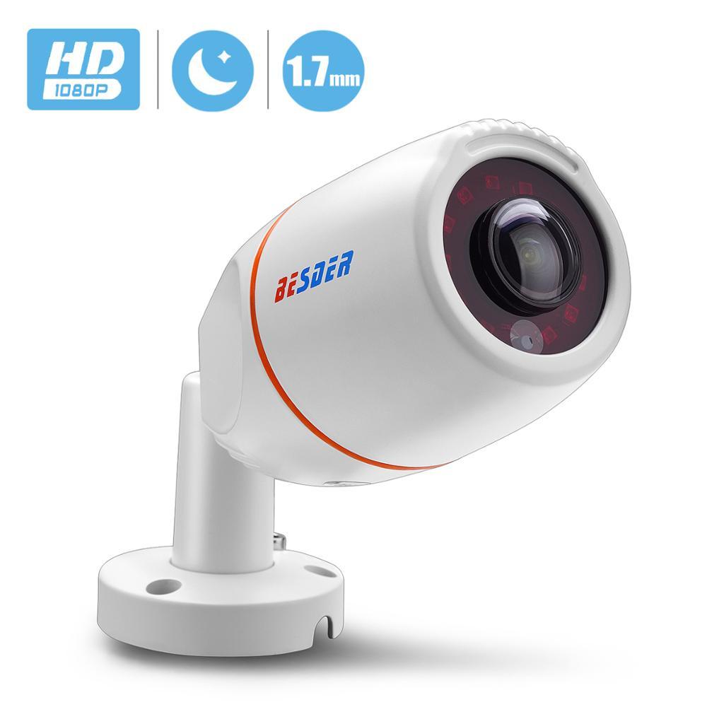 "BESDER de ángulo ancho 1,7mm cámara IP panorámica impermeable al aire libre de 1080P HI3516E 1/2 8 ""SONY IMX307 bala CCTV ONVIF RTSP 48V PoE"