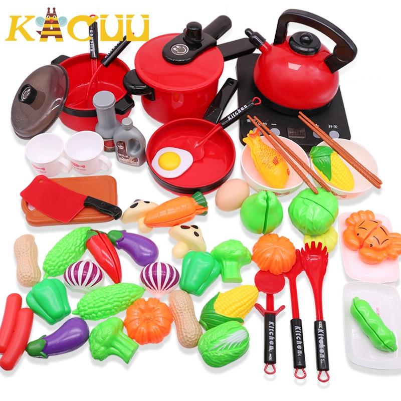Crianças em miniatura conjunto de brinquedos de cozinha fingir jogar simulação de alimentos panelas pote pan cozinhar jogar utensílios de casa brinquedo dos miúdos presente