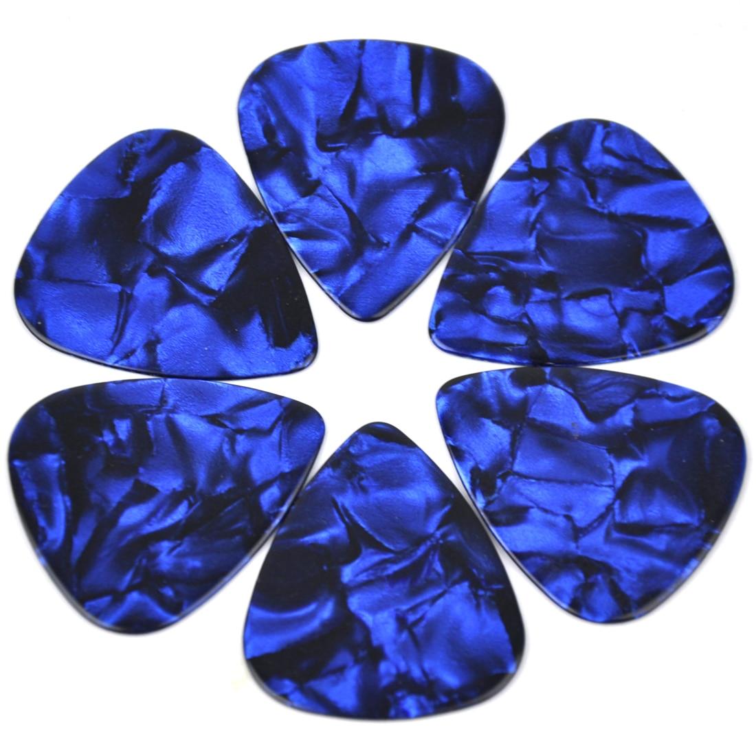 Wholesale 1000pcs Medium 0.71mm Blank Guitar Picks Plectrums Celluloid Pearl Blue enlarge