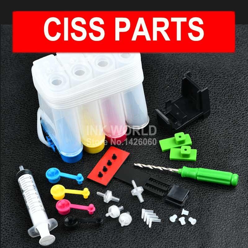 Kit de tinta Ciss de 4 colores para impresora de inyección de tinta Ciss de alta calidad hp 21 22 27 28 56 57 60 61 122 240 241 PG240 PGI540