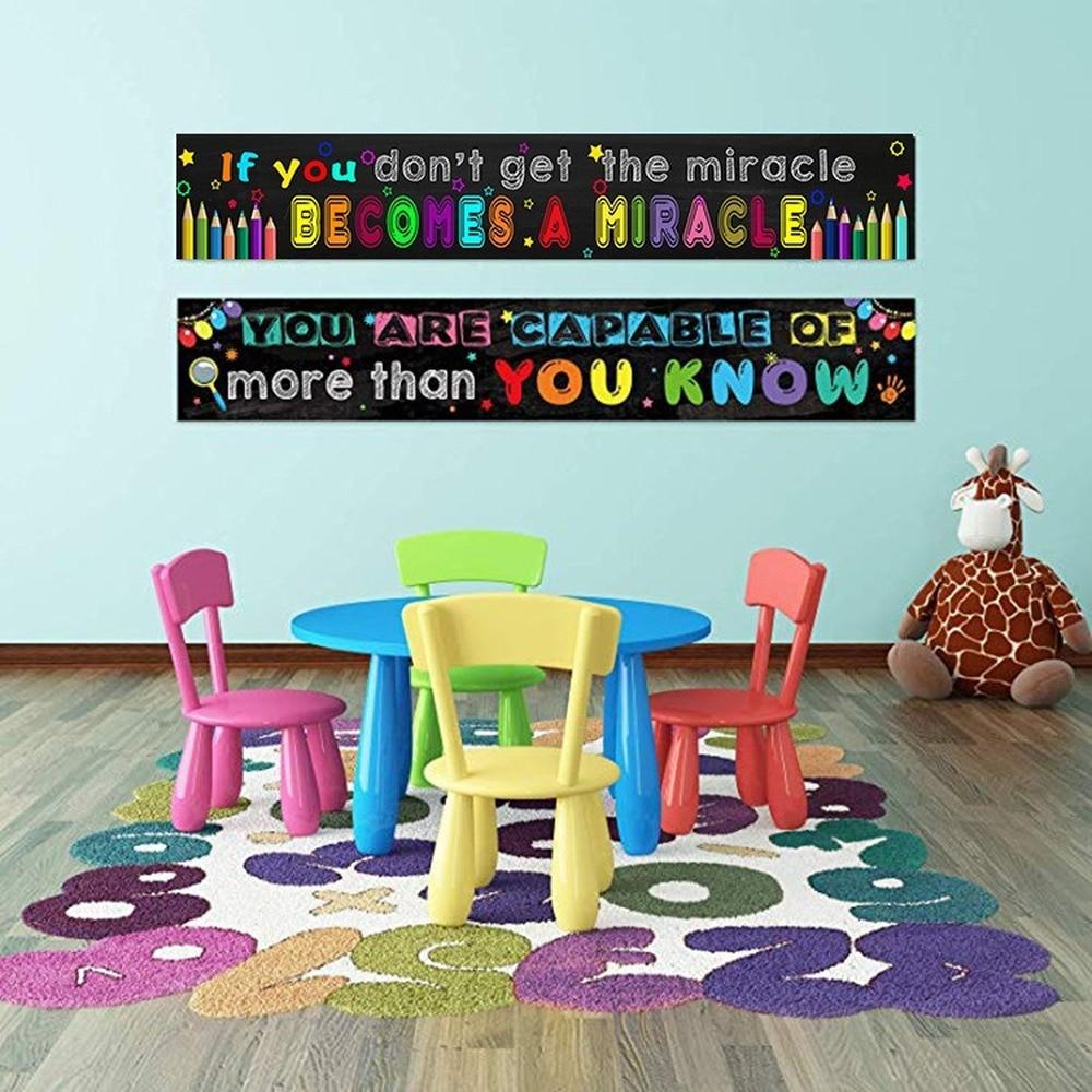 Póster de eslogan de inspiración energética positiva, cita famosa en inglés, lienzo para escuela de pintura, aula, oficina, estudio, decoración de pared de habitación