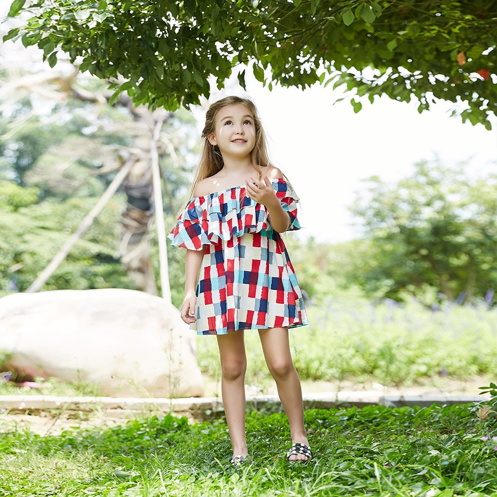 YOYOSHOW  Summer new girls' dresses comfortable & fashionable girls' dresses 1-5 years old girls' dresses.