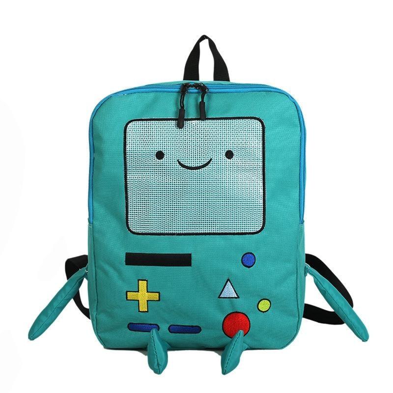 Japan And South Korea Cute Cartoon Cute Adventure Time Backpacks Funny Personality Stereo Student Bag Large Capacity Travel Bag фото
