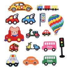 Cute Cartoon Embroidery Cloth Stickers Modern Minimalist Car Badge Patch Stickers DIY Clothing Decor