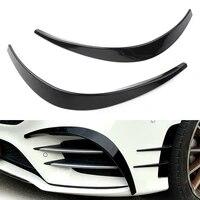 car abs front bumper splitter spoiler canard for mercedes benz w177 a class sport a35 a180 a200 a220 a260 amg 2019 2020