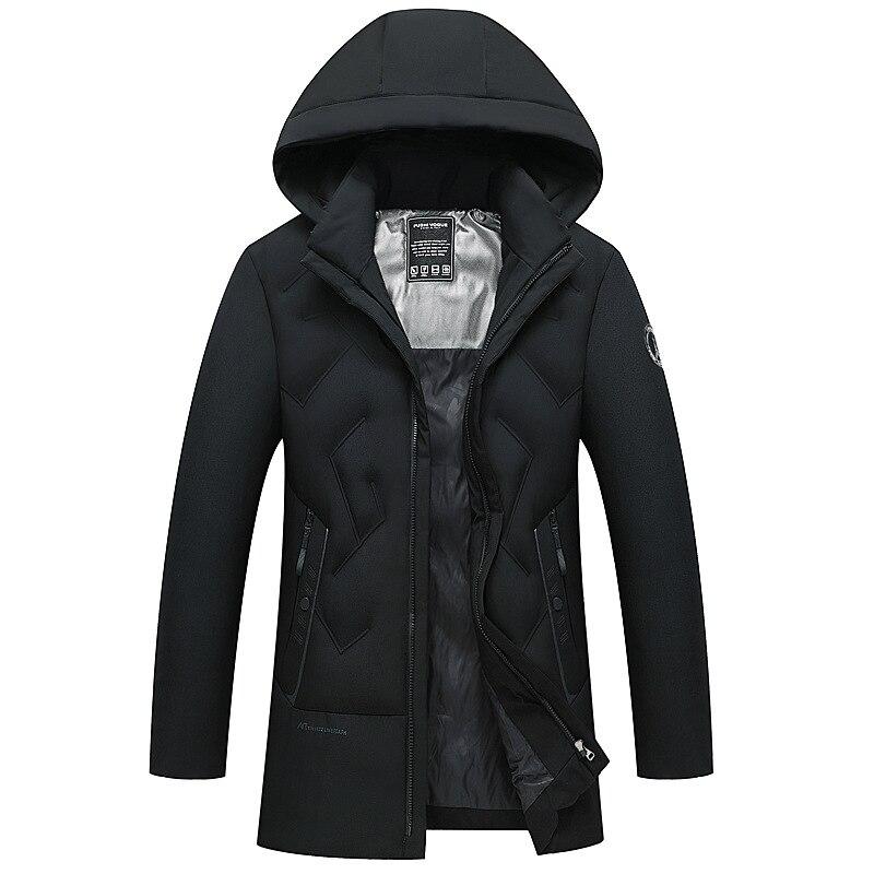 Мужская зимняя пуховая хлопковая куртка мужская длинная толстая куртка хлопковая куртка мужские парки мужская зимняя куртка с капюшоном п...