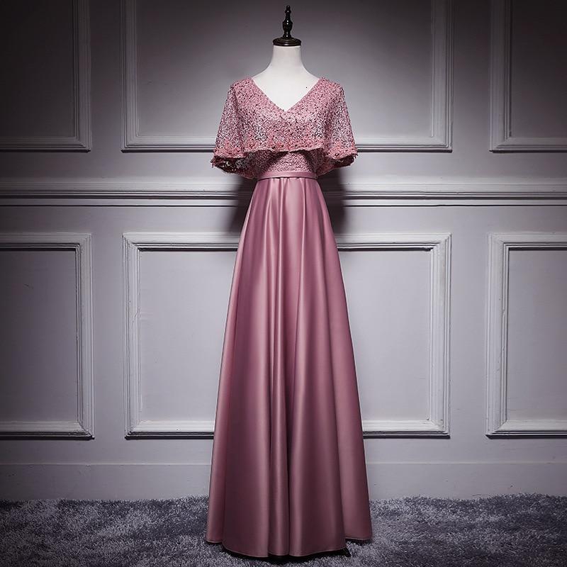 Elegant Wine Red Satin Long Evening Gowns With Jacket 2020 A-line V-neck Floor-length Women Formal Dresses