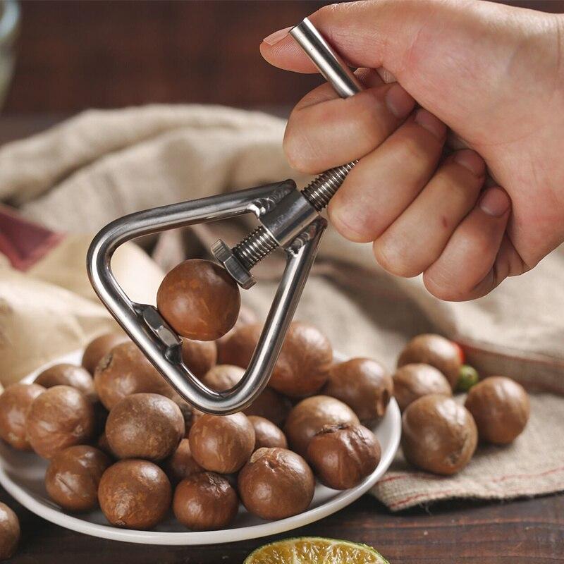 New Manual Macadamia Nut Opener Nut Cracker Machine Walnut Nutcracker Nut Sheller Tool Macadamia Nut Opening Kitchen Accessories