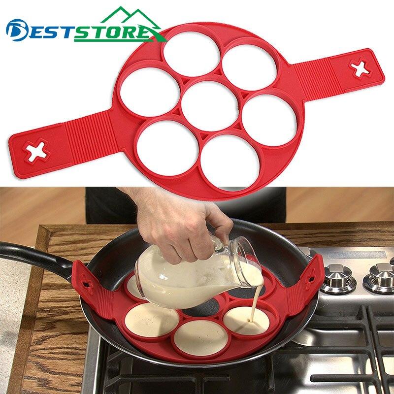 Блинная машина для изготовления яичных колец, антипригарная легкая Фантастическая форма для омлета, кухонные гаджеты, инструменты для приготовления пищи, силикон
