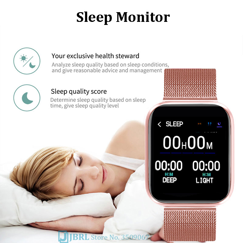 2021 New  Women Men Bluetooth Waterproof Smart Watch For Android IOS Electronic Clock Fitness Tracker Full Touch Hours enlarge