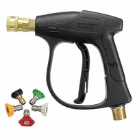 high pressure washer gun 3000 psi max with 5 color quick connect nozzles m22 hose connector 3 0 tip 3000 psi max
