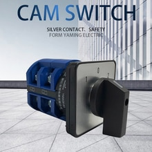 Interruptor giratorio 63A 2 fases 8 tornillo terminal 3 posición interruptor de cámara interruptor de contacto de plata Universal