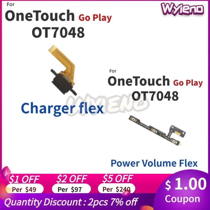 Wyieno para Alcatel OneTouch Go Play OT7048 7048X Puerto cargador USB volumen...