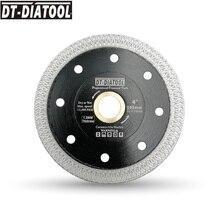 "DT-DIATOOL Dia105mm/4"" Superthin Diamond Cutting Disc X Mesh turbo rim Saw Blades for Tile Ceramic Cutting Wheel thickness 1.2MM"