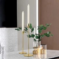 romantic nordic metal candlestick gold candle holders wedding decoration bar party home decor candlestick simple style