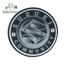 Earlfamily 13cm x 12.8cm para suzuki logotipo da motocicleta adesivos de carro pára janela vinil envoltório do carro diy camper jdm decalque à prova ddiy água