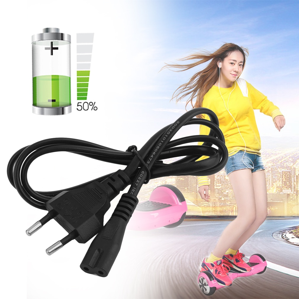 Professional Use Balance Car Charger Adapter Cable Self Balancing Balance Car Smart Electric Scooter Power Cable Black