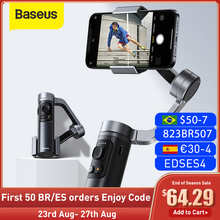 Baseus Bluetooth Selfie Stick 3-Axis Handheld Gimbal Camera stabilizer foldbale Phone Holder for iPhone 12 Pro Xiaomi Huawei P30