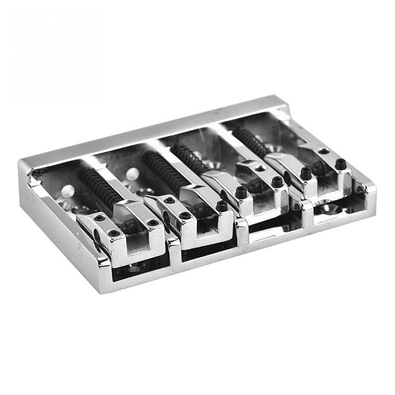 84mm Metal Electric Bass Bridge Fixed For 4 String Bass Guitar Parts Accessories