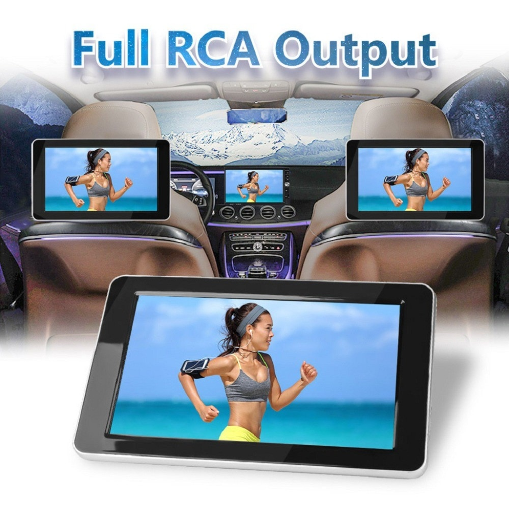 9 inch TFT Color LCD Headrest DVD Monitors 1024x600 HD input Radio AV Monitor for Rearview Camera car audio DVD Player