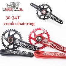 SNAIL GXP 30/32/34t MTB Road Bike CNC Chainset 170mm Crank BB Chainwheel Chainring Aluminum alloy Crankset For GXP XX1 X9 XO X01